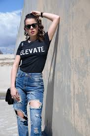 Forever 21 Ripped Jeans The Word Changes Black T Shirt U0026 Forever 21 Distressed Boyfriend Jeans