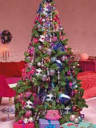 pink christmas tree christmas tree decoration blending purple and pink colors into