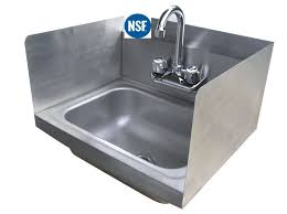 Commercial Kitchen Sinks Amazon Com Stainless Steel Hand Sink With Side Splash Nsf