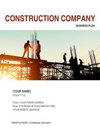 construction company business plan 2 template u0026 sample form