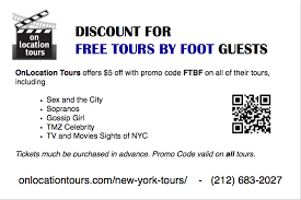 nyc discount page for ftbf guests free tours by foot