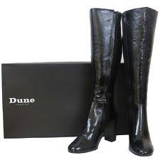 womens boots dune dune s knee high patent leather boots ebay