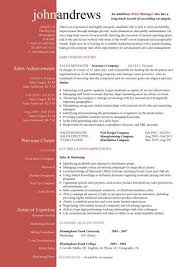 Sales And Marketing Manager Resume Examples sales manager cv example free cv template sales management jobs