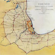 City Of Chicago Map by Daniel Burnham And The1909 Plan Of Chicago