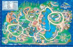 seaworld orlando theme park map orlando fl mappery