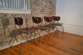 Mid Century Modern Armchairs Set Of Four Virco Industrial Mid Century Modern Chairs Galaxiemodern