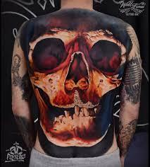 big skull covering guys back best design ideas