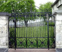 ornamental iron entrance gates for gardens and courtyards in new