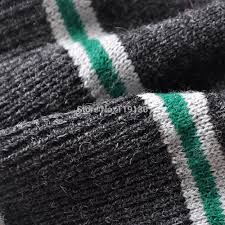christmas gift harry potter slytherin wool striped cardigan green