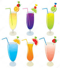 alcohol vector vector set of different fruit alcohol layered cocktails and