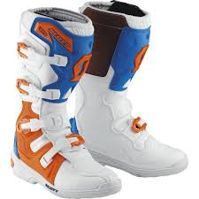 blue motocross boots scott 350 mx boots white blue offroad sale retailer best selling