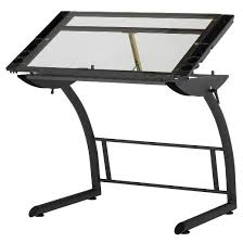 Glass Drafting Table With Light Drafting Tables Desks Target