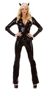 Latex Halloween Costumes Cheap Catwoman Cosplay Costume Aliexpress