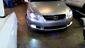 lexus xenon headlight bulb lexus gs430 hid low and fog led hi beam youtube