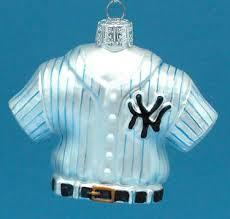 new york yankees glass jersey ornament