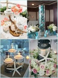 starfish themed beach wedding centerpiece and chair decor ideas