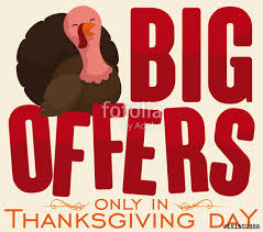 happy turkey promotional sign for thanksgiving offers vector