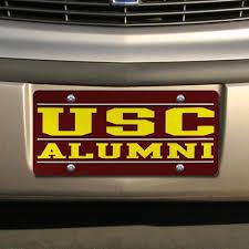 usc alumni license plate usc car accessories