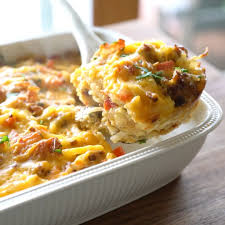 hash brown breakfast casserole with sausage and bacon youtube