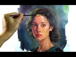 art oil painting pretty portrait on canvas youtube