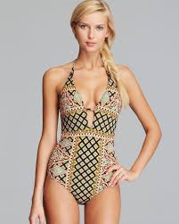 nanette lepore nanette lepore moroccan medallion goddess one swimsuit in
