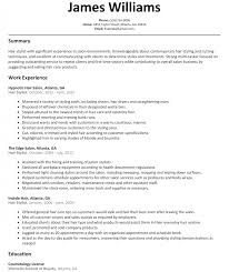 resume examples for hairstylist resume example and free resume maker