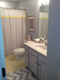 chevron bathroom ideas gray and yellow bathroom ideas 375