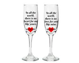 sayings for and groom wine glasses with sayings and groom wine glasses