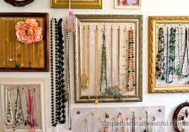 colored necklace display images Gallery wall jewelry display simple practical beautiful jpg