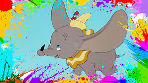 painting dumbo coloring book pages for kids paint and color