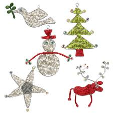 beaded ornaments from south africa set of 5 pieces