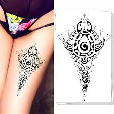 25 fashion style temporary tattoo body art maya tribal totem