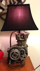 mad 4 motocross dirt bike motor lamp made from a 1989 honda 125cc dirt bike