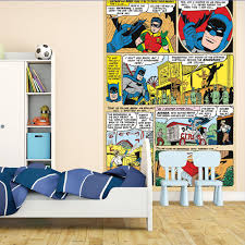 Large Wall Murals Wallpaper by Dc Comics Classic Batman U0026 Robin Large Wall Mural Free Paste