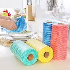 serviette cuisine 1 rouleau non tissé tissu à laver chiffon de nettoyage serviettes