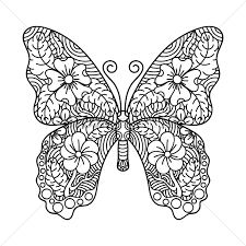 intricate butterfly design vector image 1998908 stockunlimited