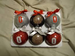 block o ohio state ornaments set of 6 2 small