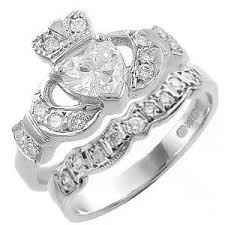 claddagh wedding ring sparkling claddagh engagement ring sets made in ireland