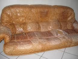 canapé vieux cuir vieux cuir