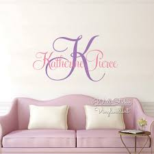 popular monogram wall decor buy cheap monogram wall decor lots name wall sticker custom name monogram wall decal personalized name wall decor kids room children name