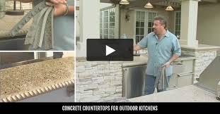 Outside Kitchen Ideas Outdoor Concrete Countertops Design Ideas And Pictures The