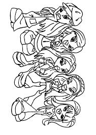 bratz coloring pages 22 coloring kids