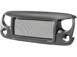 Rugged Ridge Billet Grille Inserts In Black All Things Jeep Spartan Grille With Black Grill Insert For Jeep