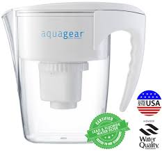 amazon com aquagear water filter pitcher fluoride lead
