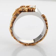 aliexpress buy 2ct brilliant simulate diamond men 14k white gold simulate diamond rings luxury quality fantastic men