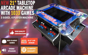 Tabletop Arcade Cabinet 21 U201d Arcade Machine Tabletop Upright Cocktail Video Game With 1033