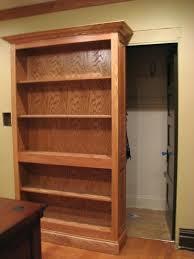 bookcase sliding bookcase hidden door make sliding bookcase