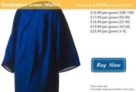blue cap and gown matte royal blue graduation gowns from honors graduation
