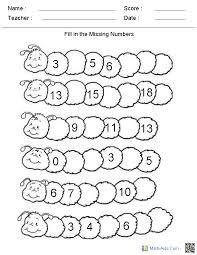 nombre manquant primer grado pinterest worksheets common