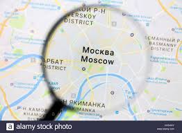 moscow on google maps under a magnifying glass moscow is the